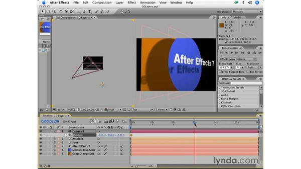 Adding and animating a camera: After Effects 7 Essential Training