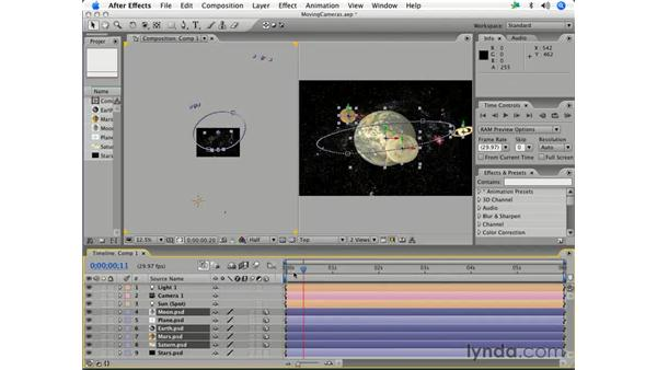 Auto-orienting objects: After Effects 7 Essential Training