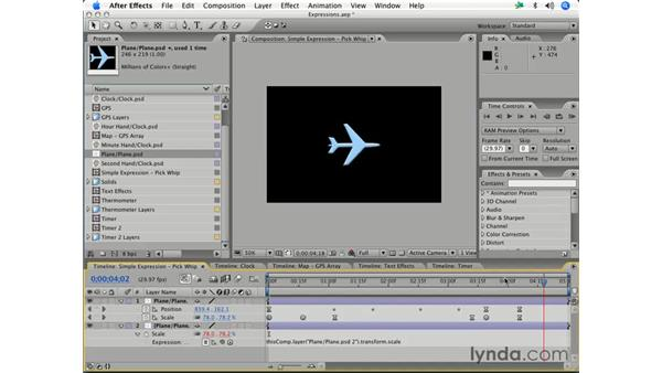 Adding expressions and creating relationships: After Effects 7 Essential Training