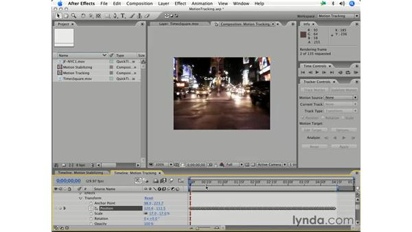 Tracking motion in a video clip: After Effects 7 Essential Training