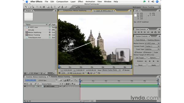 Stabilizing footage: After Effects 7 Essential Training
