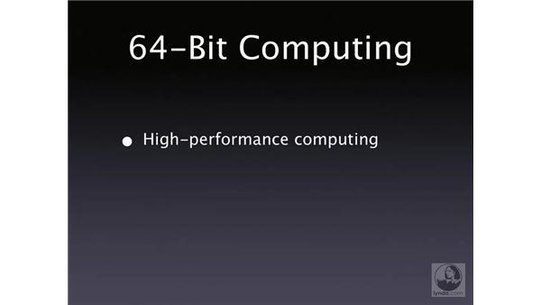 64-bit computing: Mac OS X Server 10.4 Tiger Essential Training