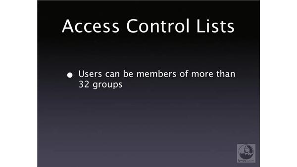 Access control lists: Mac OS X Server 10.4 Tiger Essential Training