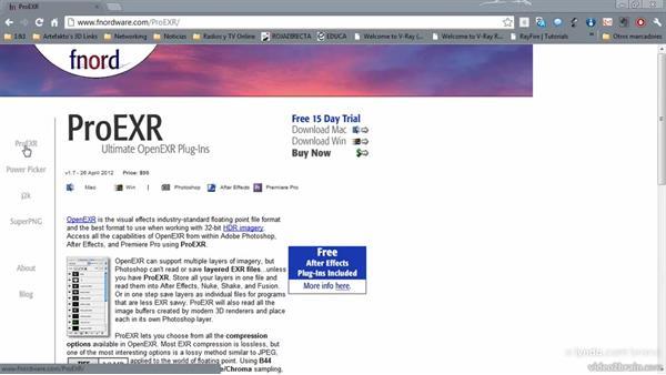 Formato EXR 32 bits: ProEXR Plugin