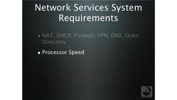 Network services system requirements: Mac OS X Server 10.4 Tiger Essential Training
