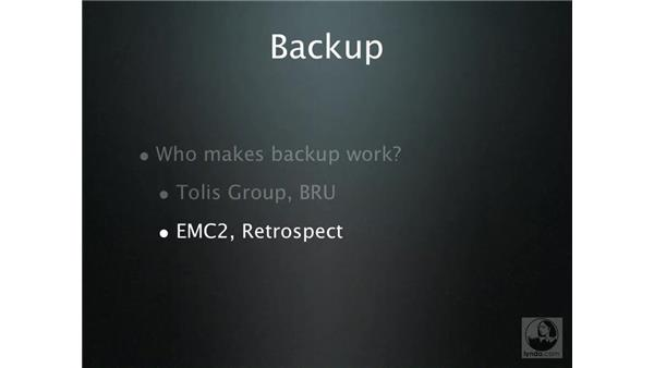 Backup: What really works?: Mac OS X Server 10.4 Tiger Essential Training
