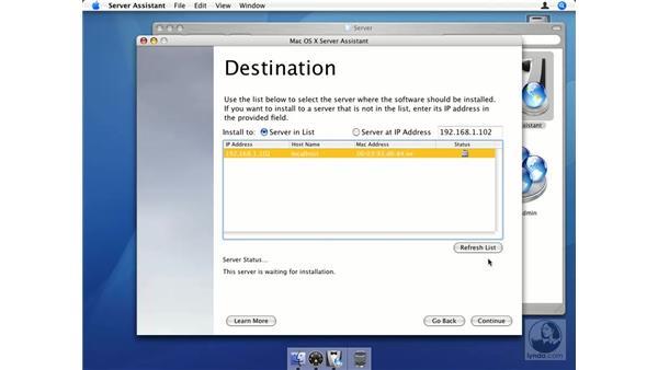 Remote installation pt. 3: Mac OS X Server 10.4 Tiger Essential Training