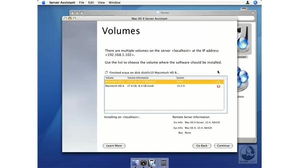 Remote installation pt. 4: Mac OS X Server 10.4 Tiger Essential Training