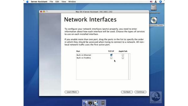 Server Setup Assistant: Mac OS X Server 10.4 Tiger Essential Training