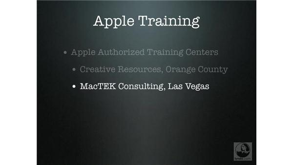 Apple training options: Mac OS X Server 10.4 Tiger Essential Training