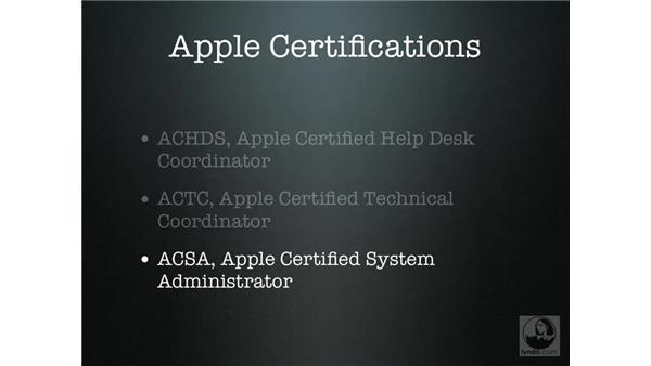 Apple certifications: Mac OS X Server 10.4 Tiger Essential Training