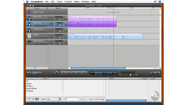 Working with tracks: Podcasting with GarageBand 3