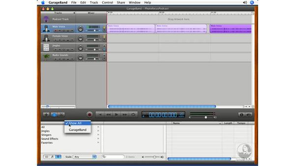 Using the Loop Browser: Podcasting with GarageBand 3