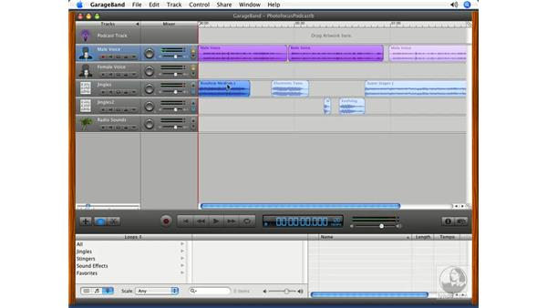 About regions: Podcasting with GarageBand 3