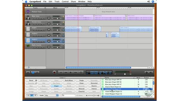 Editing regions: Podcasting with GarageBand 3