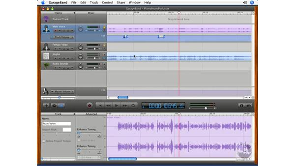 Volume curves: Podcasting with GarageBand 3