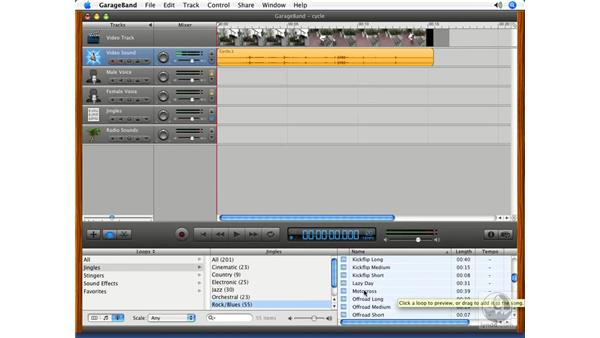 Adding video: Podcasting with GarageBand 3