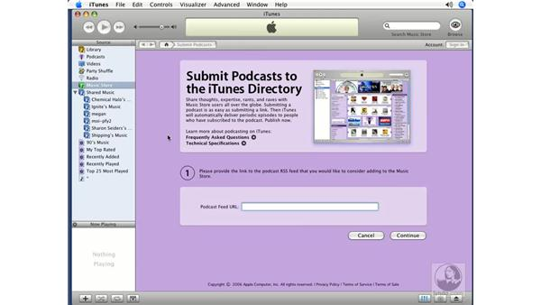 Listening with iTunes: Podcasting with GarageBand 3