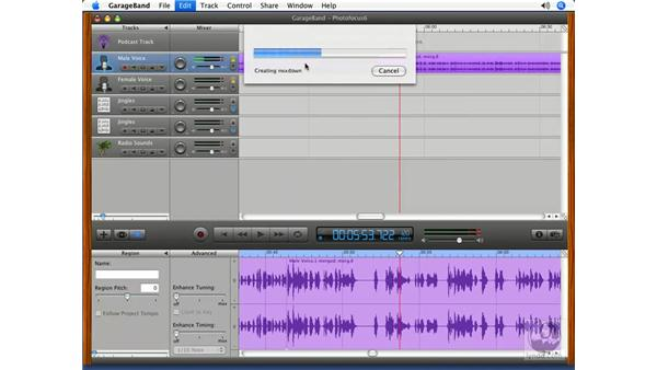 Putting it all together pt. 3: Podcasting with GarageBand 3