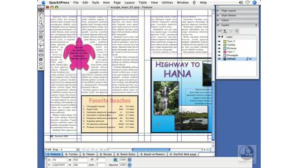 Identifying layers by color: QuarkXPress 7 New Features
