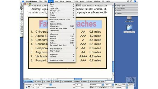 Text case conversion: QuarkXPress 7 New Features