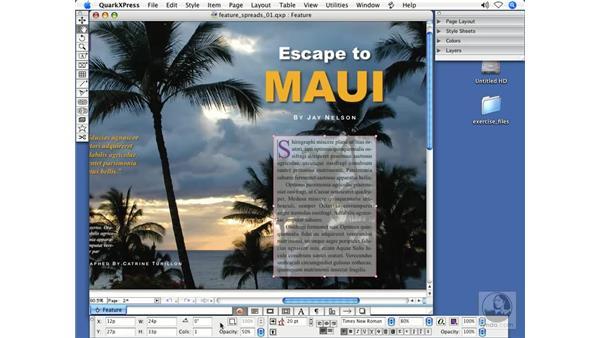 Measurements palette: QuarkXPress 7 New Features