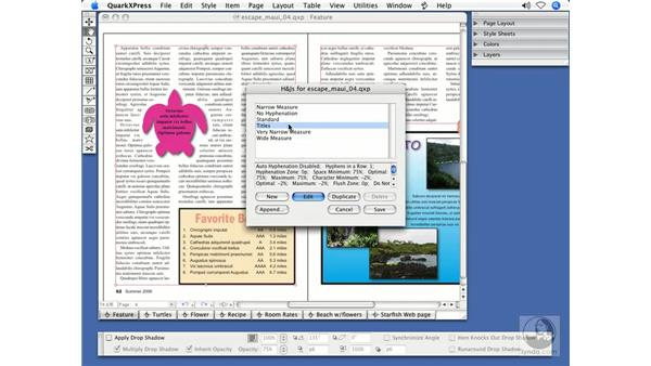 Hyphenation, ligatures and transparency: QuarkXPress 7 New Features