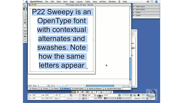What is OpenType?: QuarkXPress 7 New Features