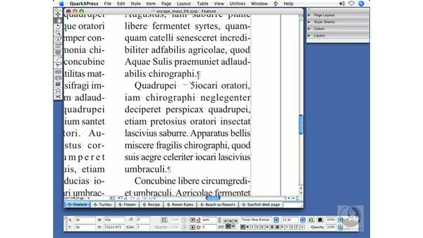 Invisibles and special characters: QuarkXPress 7 New Features