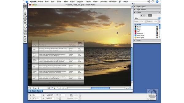Table enhancements: QuarkXPress 7 New Features