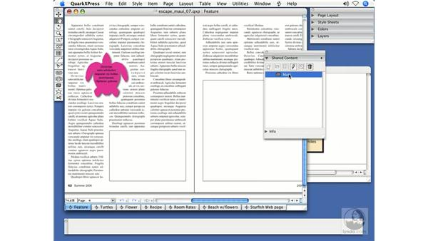Shared layouts: QuarkXPress 7 New Features
