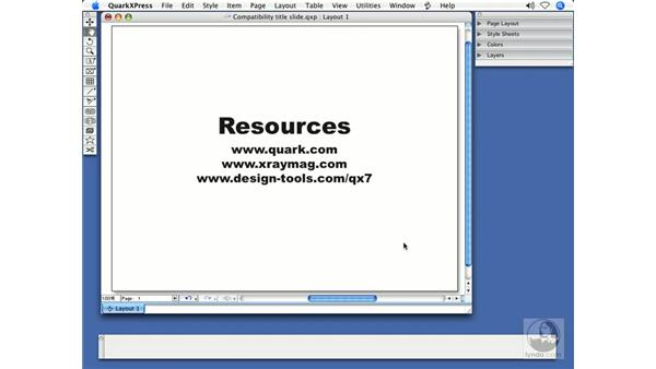 For more information: QuarkXPress 7 New Features