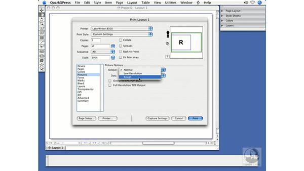 Print dialog box enhancements: QuarkXPress 7 New Features