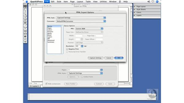 Variable data printing (PPML): QuarkXPress 7 New Features