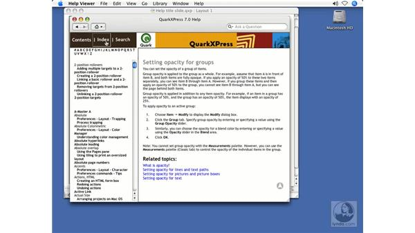 Getting Help: QuarkXPress 7 New Features