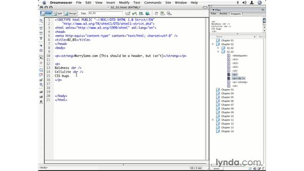 Adding semantic elements: CSS for Designers