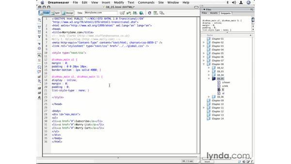Designing a text-based horizontal navigation bar: CSS for Designers
