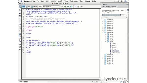 Creating a tabbed horizontal navigation bar: CSS for Designers