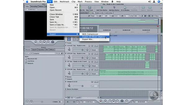 Moving files between Final Cut Pro and Soundtrack Pro multitrack projects: Final Cut Studio Integration