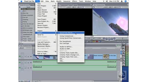 Moving files between Final Cut Pro and Compressor: Final Cut Studio Integration