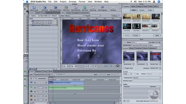 Moving files between DVD Studio Pro and all five other applications: Final Cut Studio Integration