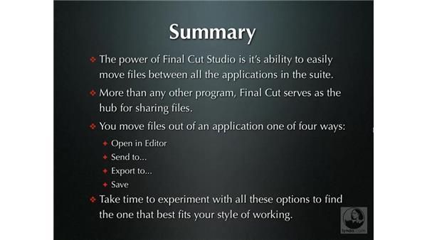 The power of application integration: Final Cut Studio Integration