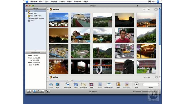 Importing movies: iPhoto 6 Essential Training