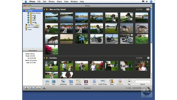 The source list: iPhoto 6 Essential Training