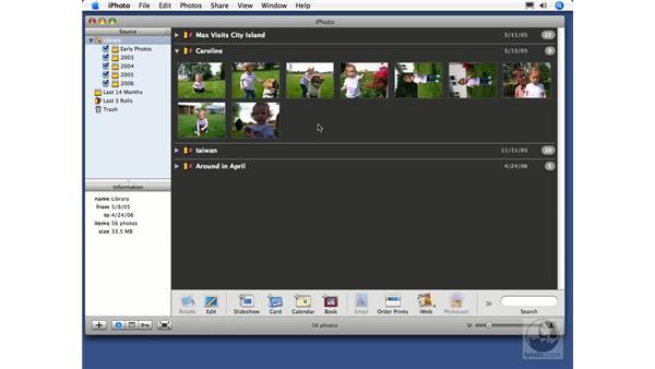 Film rolls: iPhoto 6 Essential Training