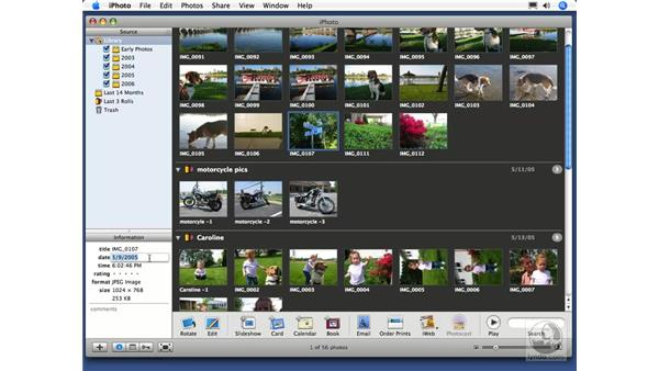 Naming your photos: iPhoto 6 Essential Training