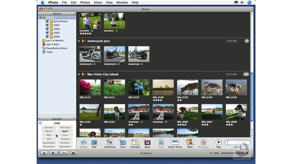 Text and calendar searching: iPhoto 6 Essential Training
