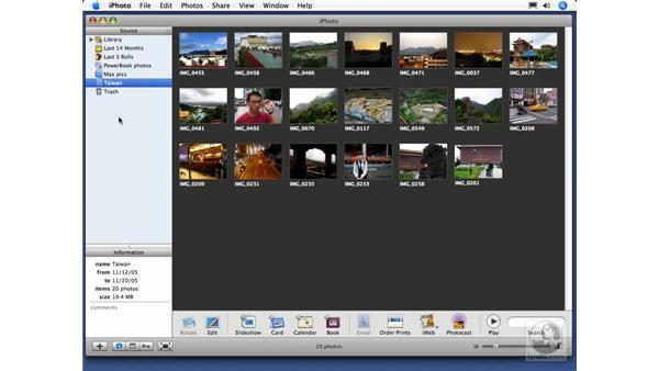Creating albums: iPhoto 6 Essential Training