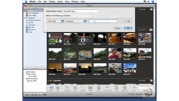 Creating Smart Albums: iPhoto 6 Essential Training