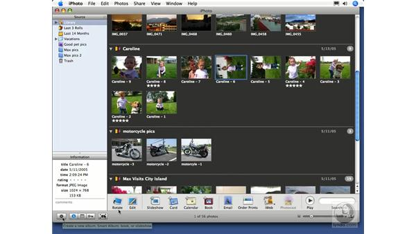 Rotating pictures: iPhoto 6 Essential Training